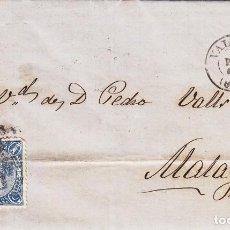 Sellos: CARTA: 1865 DE VALENCIA A MALAGA - SELLO 4 CUARTOS. Lote 87240520