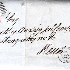 Sellos: CARTA ENTERA DE MADRID CON SELLO NUM 64 Y MATASELLOS PARRILLA CON CIFRA AÑO 1864 -VER CARTA --. Lote 87655712