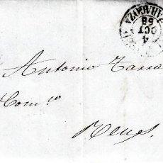 Sellos: CARTA ENTERA DE FERNANDO CRISTOBAL DE CALATAYUD CON MATASELLOS DE PARRILLA AÑO 1858. Lote 87658312