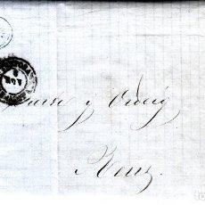Sellos: CARTA ENTERA DE B. ESTRANY DE TORTOSA A REUS AÑO 1861. Lote 87659020