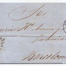 Sellos: CARTA ENTERA 1857. 4 CUARTOS ROJO. PARRILLA DE MADRID Y FECHADOR.. Lote 89395872
