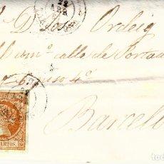 Sellos: CARTA ENTERA DE REUS AÑO 1861 CON MATASELLOS DE LLEGADA A BARCELONA. Lote 90817625