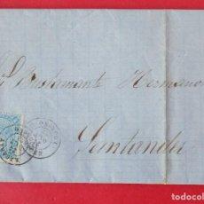 Sellos: CARTA CIRCULADA COMPLETA - DE EZCARAY, LOGROÑO A SANTANDER - AÑO 1865 - EDIFIL 75... R-6642. Lote 93564865