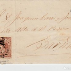 Sellos: CARTA ENTERA DE LLEIDA (1868) A BARCELONA CON MATASELLOS DE PARRILLA CON CIFRA Y FECHADOR. Lote 94270230