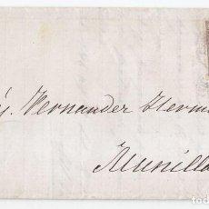 Sellos: CARTA DE FERROL. CORUÑA. 1869. FECHADOR. REMITE GARCÍA COTERILLO. GALICIA. Lote 94905223