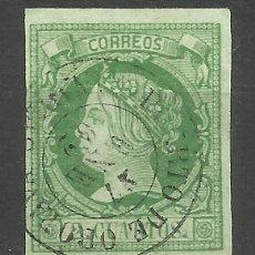 Sellos: 5742-SELLO CLASICO ESPAÑA ISABEL II 1860 PUERTO OROTAVA CANARIAS Nº51 MATASELLOS FECHADOR ESCASO.EST. Lote 95829823