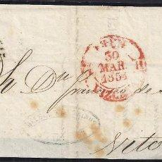 Sellos: 1854. CARTA DE IRUN A VITORIA.. Lote 95872983
