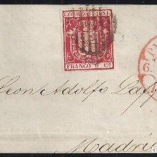 Sellos: 1854. FRENTE DE CARTA DIRIGIDA DE PAMPLONA A MADRID.. Lote 95873027