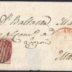 Sellos: 1854. CUBIERTA DE LOS ARCOS A MADRID, POR LOGROÑO.. Lote 95873071