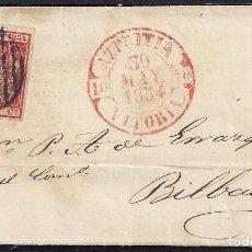 Sellos: 1854. CUBIERTA DE CARTA DIRIGIDA DE AZPEITIA A BILBAO.. Lote 95873123