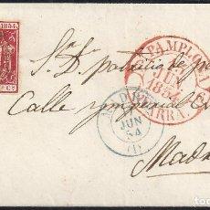 Sellos: 1854. CUBIERTA DIRIGIDA DE PAMPLONA A MADRID.. Lote 95873231