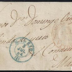 Sellos: 1854. CUBIERTA DIRIGIDA DE MONDRAGÓN A MADRID.. Lote 95873263