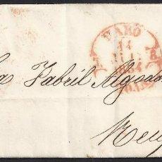Sellos: 1854. CARTA DE HARO A REUS.. Lote 95873431