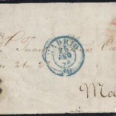 Sellos: 1854. CARTA DE SAN SEBASTIÁN A MADRID.. Lote 95873715