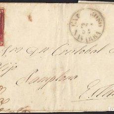 Sellos: 1854. CARTA DE VILLAFRANCA A ESTELLA.. Lote 95873827