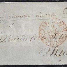 Sellos: 1854. CARTA DE TAFALLA A REUS.. Lote 95873883