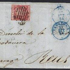 Sellos: 1854. CARTA DIRIGIDA DE PAMPLONA A REUS.. Lote 95874003