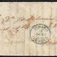 Sellos: 1854. CUBIERTA DIRIGIDA DE ALFARO A BILBAO.. Lote 95874219