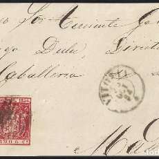 Sellos: 1854. FRENTE DE CARTA DIRIGIDA DE VITORIA A MADRID.. Lote 95874283