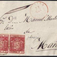 Sellos: 1854. FRENTE DE CARTA DIRIGIDA DE ESTELLA A MAÑERU. . Lote 95874331
