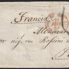 Sellos: 1859. CARTA DE IRÚN A PARIS. FRANCIA. FRANCE.. Lote 95874467