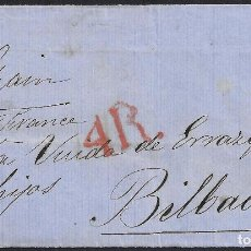 Sellos: 1864. CARTA DE LONDRES A BILBAO.. Lote 95874575