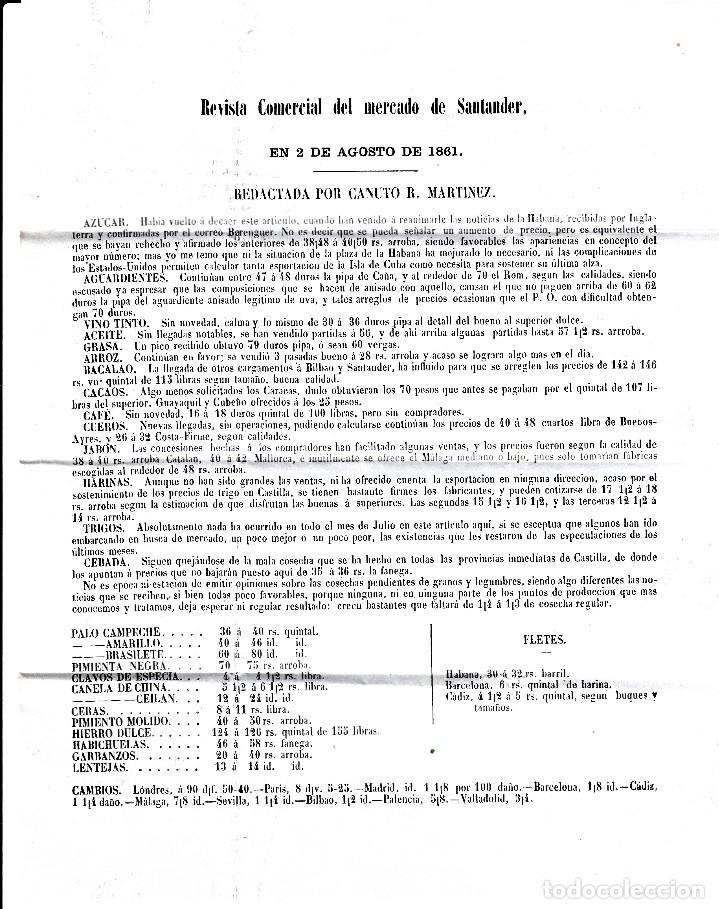 Sellos: CARTA ENTERA DE REVISTA COMERCIAL DE SANTANDER CON SELLO NUM 52 RUEDA DE CARRETA 43 Y FECHADORES - Foto 3 - 96797943