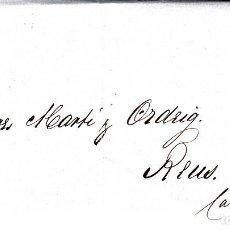 Sellos: CARTA ENTERA DE F.RUDOLPH EN CADIZ A REUS 1861 CON SELLO NUM 52 RUEDA DE CARRETA 3. Lote 96798507