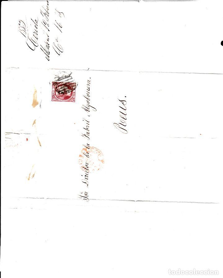 Sellos: CARTA ENTERA CON NUM.17 de madrid CON PARRILLA NEGRO Y BAEZA REDUCIDO COLOR NARANJA - Foto 2 - 97208823
