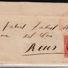 Sellos: CARTA ENTERA CON NUM. 17 DE VERGARA -BERGARA (1853) CON MATASELLOS PARRILLA NEGRO Y BAEZA ROJO. Lote 97215371