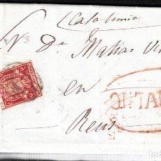 Sellos: CARTA ENTERA CON NUM. 24 DE VEGA (1854) CANTABRIA MATASELLOS PARRILLA Y MARCA PREFILATELICA ONTANEDA. Lote 97251171