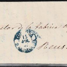 Sellos: CARTA ENTERA CON NUM. 48 (2 PUNTOS DESPUES DE LA S ) TORTOSA (1857) PARRILLA Y FECHADOR AZULES. Lote 97517539