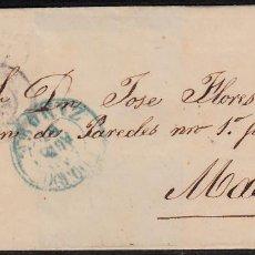 Sellos: ENVUELTA CON NUM. 48 DE ZAMORA (1857) A MADRID MATASELLOS PARRILLA AZUL Y FECHADORES NEGRO Y AZUL. Lote 97535247