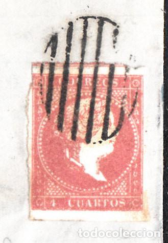 Sellos: CARTA ENTERA NUM. 48 -IMPRESIÓN DEFECT- DE IGNACIO MARRO EN BARBASTRO (1857), PARRILLA Y FECHADOR - Foto 2 - 97535611