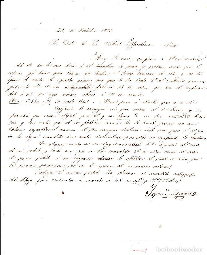 Sellos: CARTA ENTERA NUM. 48 -IMPRESIÓN DEFECT- DE IGNACIO MARRO EN BARBASTRO (1857), PARRILLA Y FECHADOR - Foto 4 - 97535611