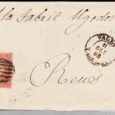 Sellos: CARTA ENTERA CON NUM. 48 DE VALLS (1858) PARRILLA NEGRA Y FECHADOR . Lote 97565335