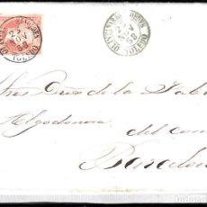 Sellos: CARTA ENTERA CON NUM. 48 DE QUINTANAR DE LA ORDEN (1858) CON FECHADOR TIPO I. Lote 97566559
