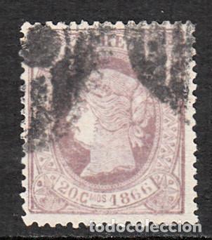1866 ISABEL II NUM. 86 USADO 20 CMS. CAT.95 E. (Sellos - España - Isabel II de 1.850 a 1.869 - Usados)