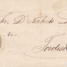 Sellos: CARTA: VALLADOLID - TORDESILLAS 1863 - SELLO 4 CUARTOS. Lote 97952871