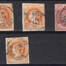 Sellos: FICHA CON MATASELLOS DE REUS , SELLOS NUMS. 48-58-64-52(3). Lote 98131035