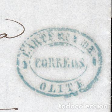 CARTA ENTERA CON NUM. 96 CON MARCA DE CARTERÍA DE OLITE -NAVARRA- DESTINO ESTELLA AÑO 1868 (Sellos - España - Isabel II de 1.850 a 1.869 - Cartas)