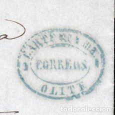 Sellos: CARTA ENTERA CON NUM. 96 CON MARCA DE CARTERÍA DE OLITE -NAVARRA- DESTINO ESTELLA AÑO 1868. Lote 98162071