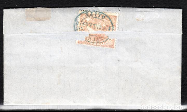 Sellos: CARTA ENTERA CON NUM. 96 CON MARCA DE CARTERÍA DE OLITE -NAVARRA- DESTINO ESTELLA AÑO 1868 - Foto 3 - 98162071