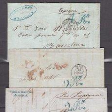 Sellos: 4 CARTAS CIRCULADAS SIN SELLO, BARCELONA A FRANCIA , DISTINTAS MARCAS DE TASA ,. Lote 98489675