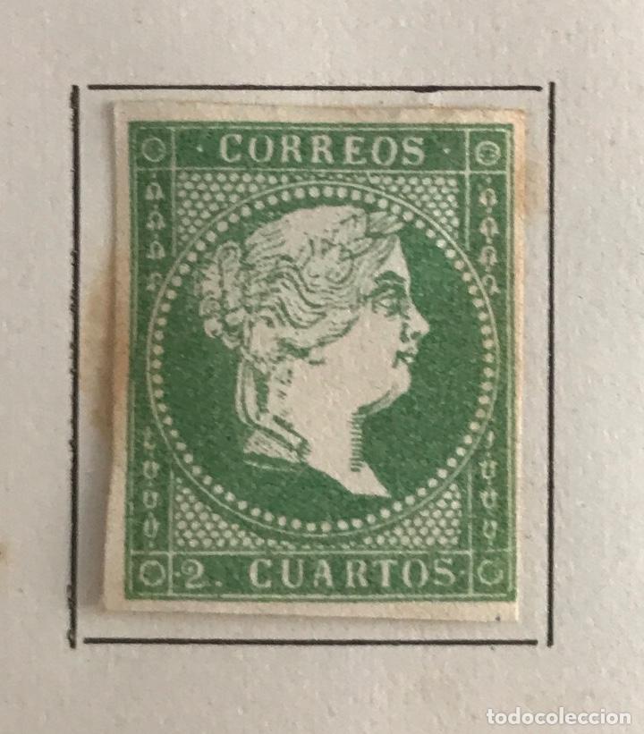 SELLO DE ESPAÑA ISABEL II AÑO 1857-60-NUEVO-EDIFIL 47, 2 CU.VERDE. SIN DENTAR (Sellos - España - Isabel II de 1.850 a 1.869 - Nuevos)