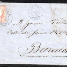 Sellos: CARTA COMPLETA NUM 48 DE FIGUERES (1859) A BARCELONA CON FECHADOR. Lote 98695119