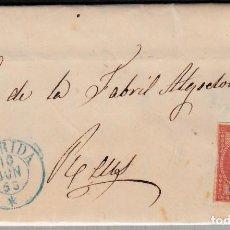 Sellos: CARTA ENTERA CON NUM. 48 DE TORRES DE SEGRE (1856) FECHADOR DE LLEIDA AZUL Y PARRILLA AZUL. Lote 98709819