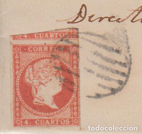Sellos: CARTA ENTERA CON NUM. 48 DE VITORIA (1858) A REUS MATASELLOS DE PARRILLA -ver ampliación sello- - Foto 2 - 98772347