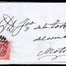 Sellos: CARTA ENTERA CON NUM. 64 DE BARCELONA (1864) A MOTRIL CON PARRILLA CON CIFRA 2. Lote 98784071