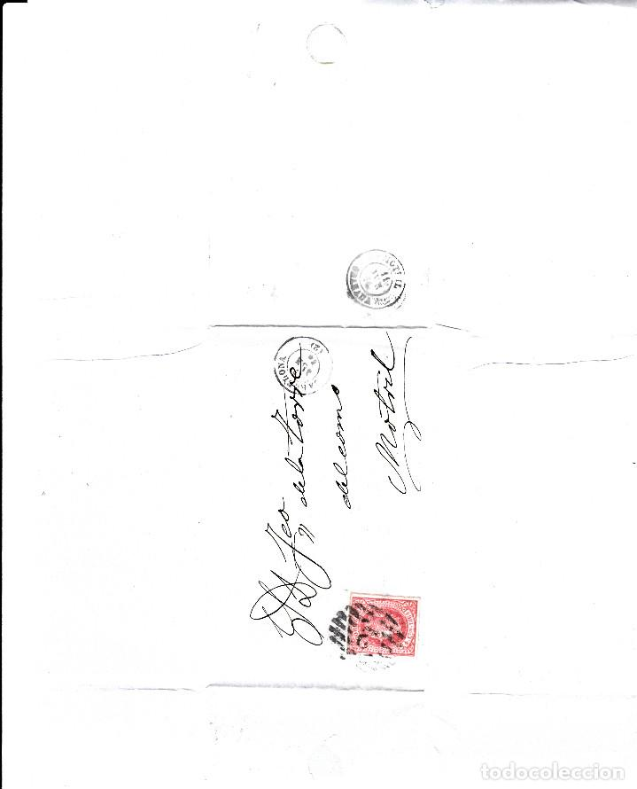Sellos: CARTA ENTERA CON NUM. 64 DE BARCELONA (1864) A MOTRIL CON PARRILLA CON CIFRA 2 - Foto 2 - 98784071